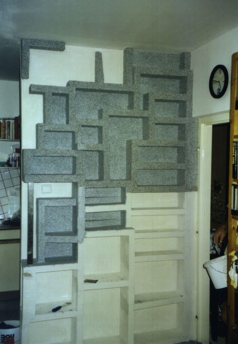 innenraum sockelputzkasten regal wohnzimmer wels architekturb ro di oliver vykruta. Black Bedroom Furniture Sets. Home Design Ideas