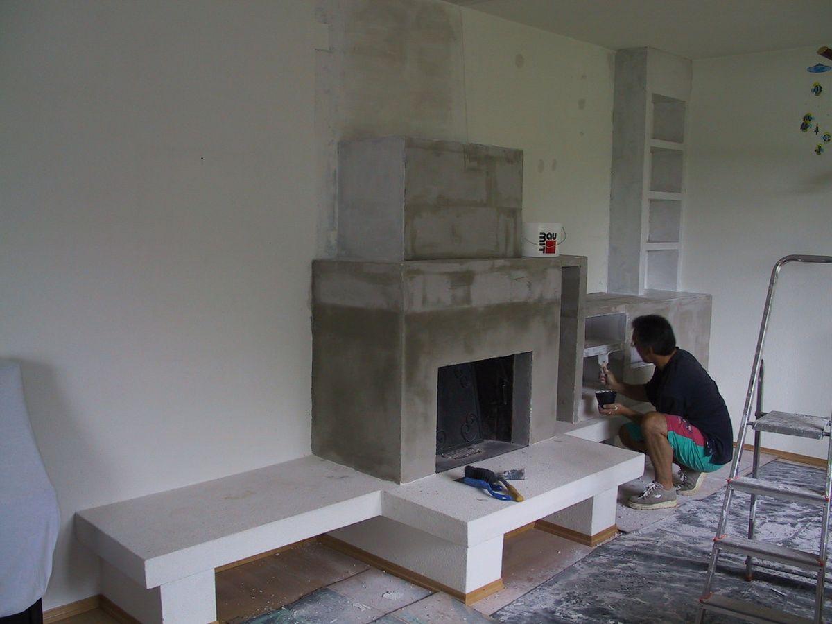 Innenraum Wohnzimmer Kaminverbau Architekturburo Di Oliver Vykruta