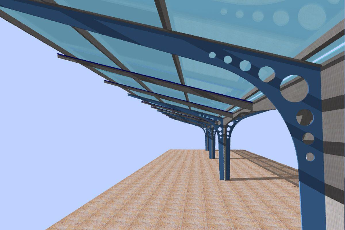 Studienprojekt hochbau 2 s dbahnhof wien architekturb ro for Innenraumgestaltung studium